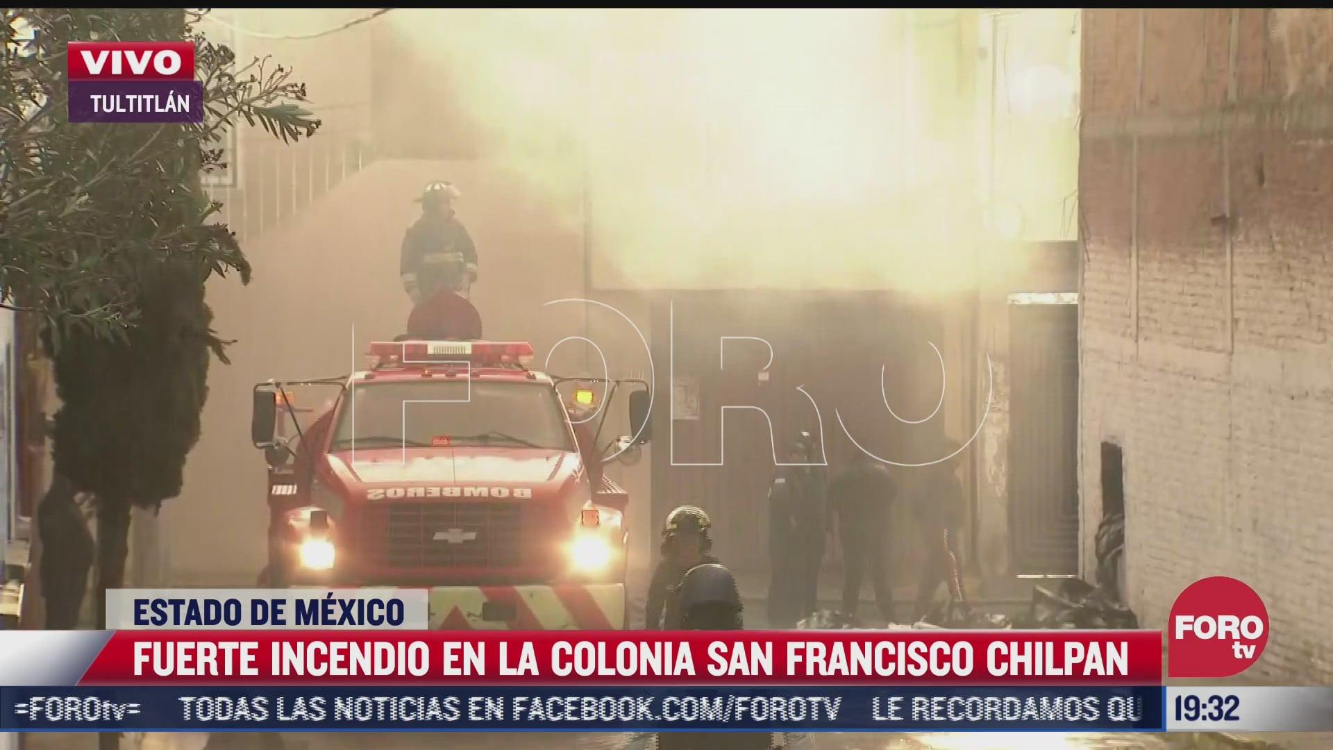 se registra incendio en tultitlan estado de mexico