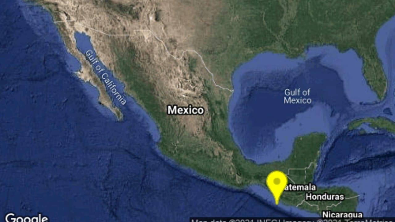 Se registra sismo de magnitud 4.6 en Ciudad Hidalgo, Chiapas