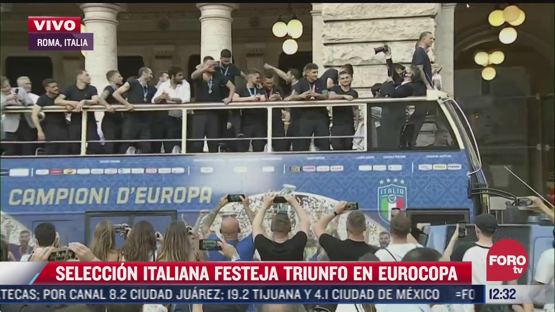 seleccion de italia celebra triunfo de la eurocopa y calles de roma lucen abarrotadas