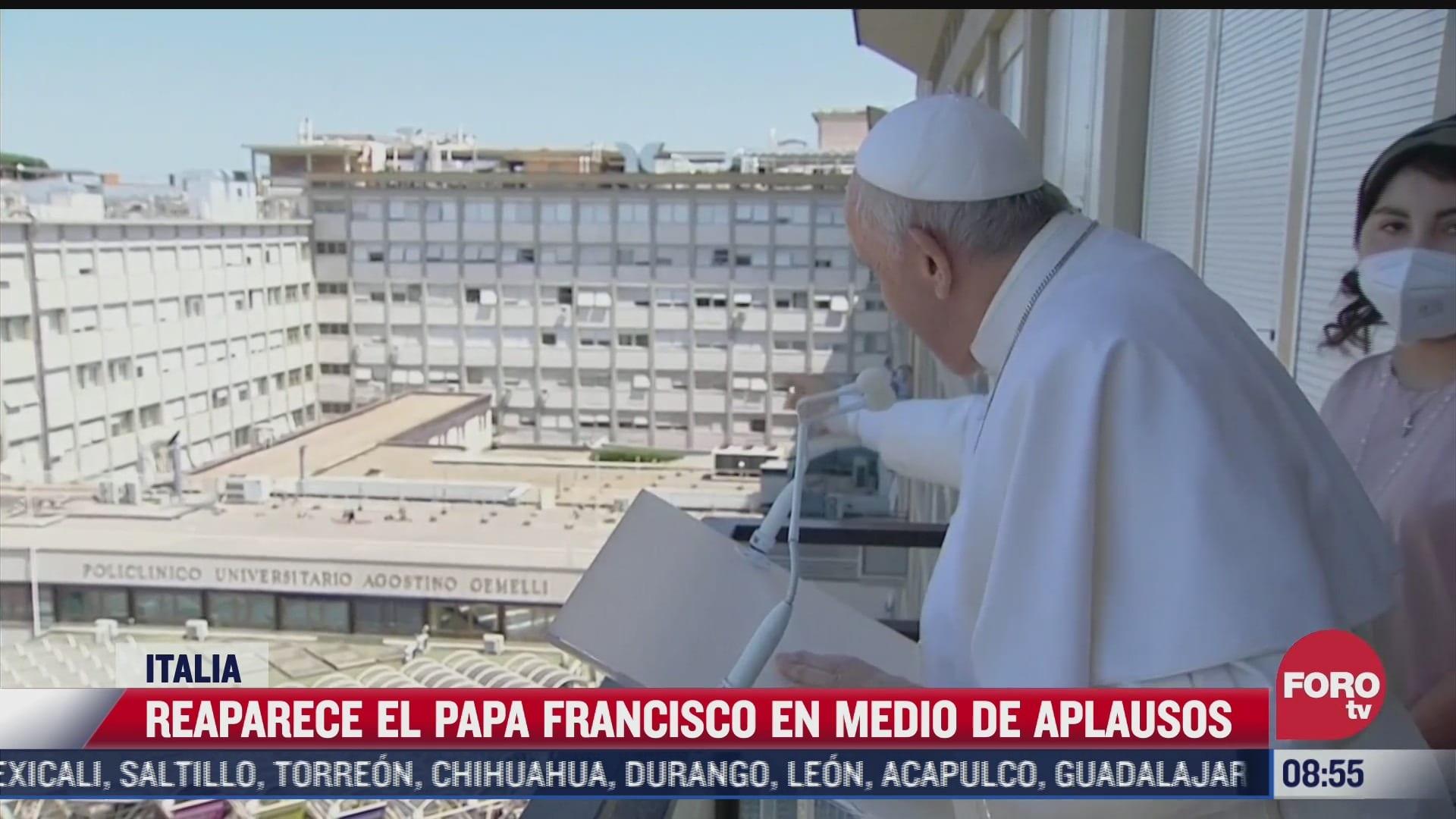 Papa Francisco hace su primera aparición desde su cirugía