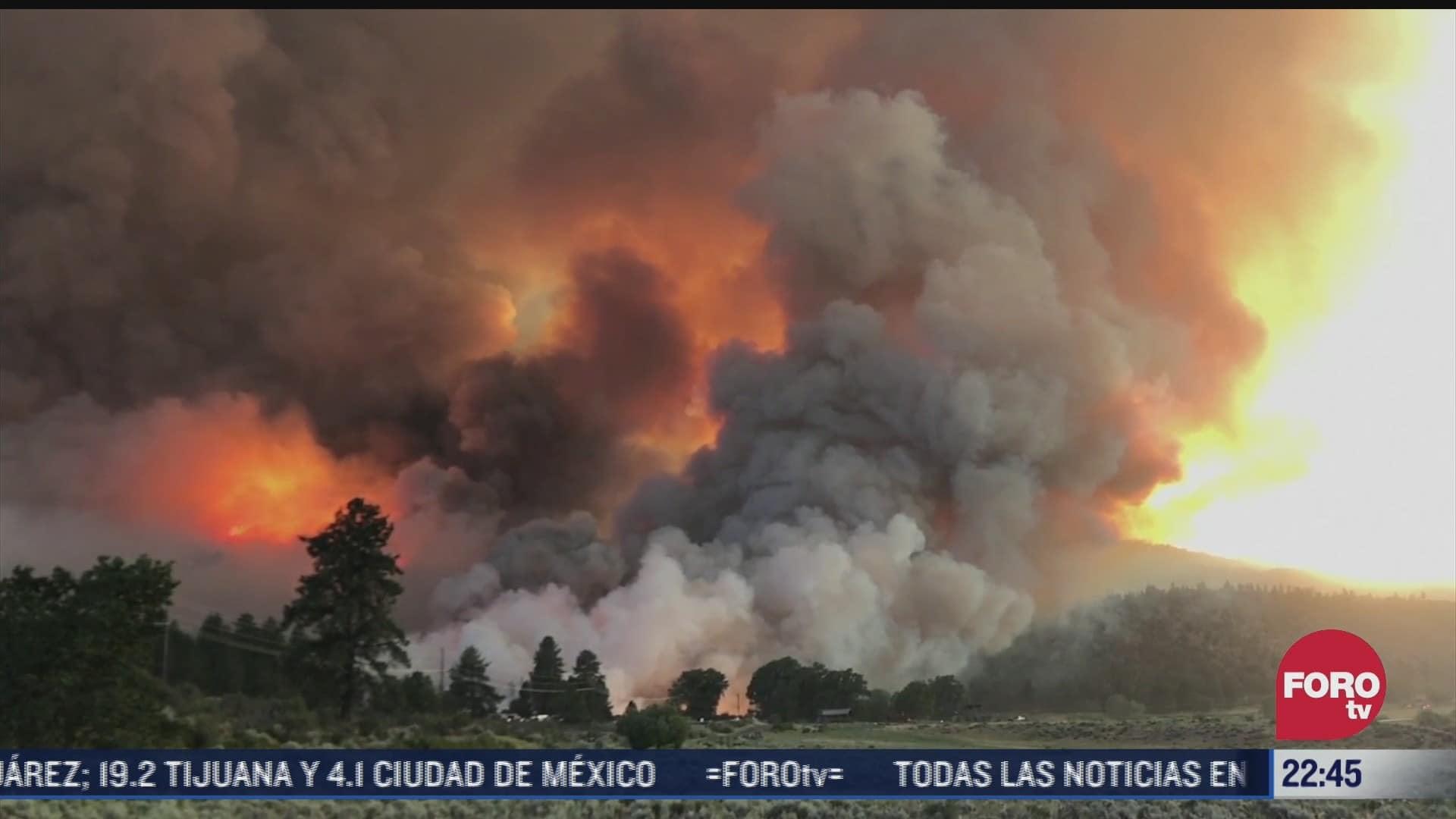 Siguen incendios forestales por ola de calor en California, EEUU