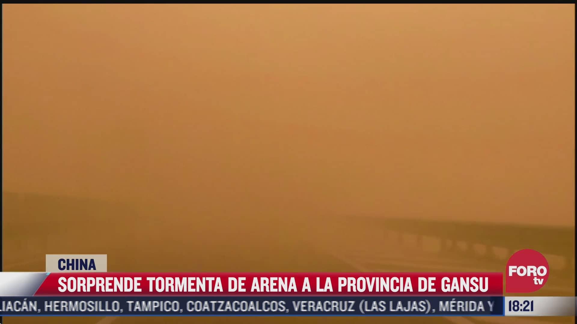 sorprende tormenta de arena a la provincia de china