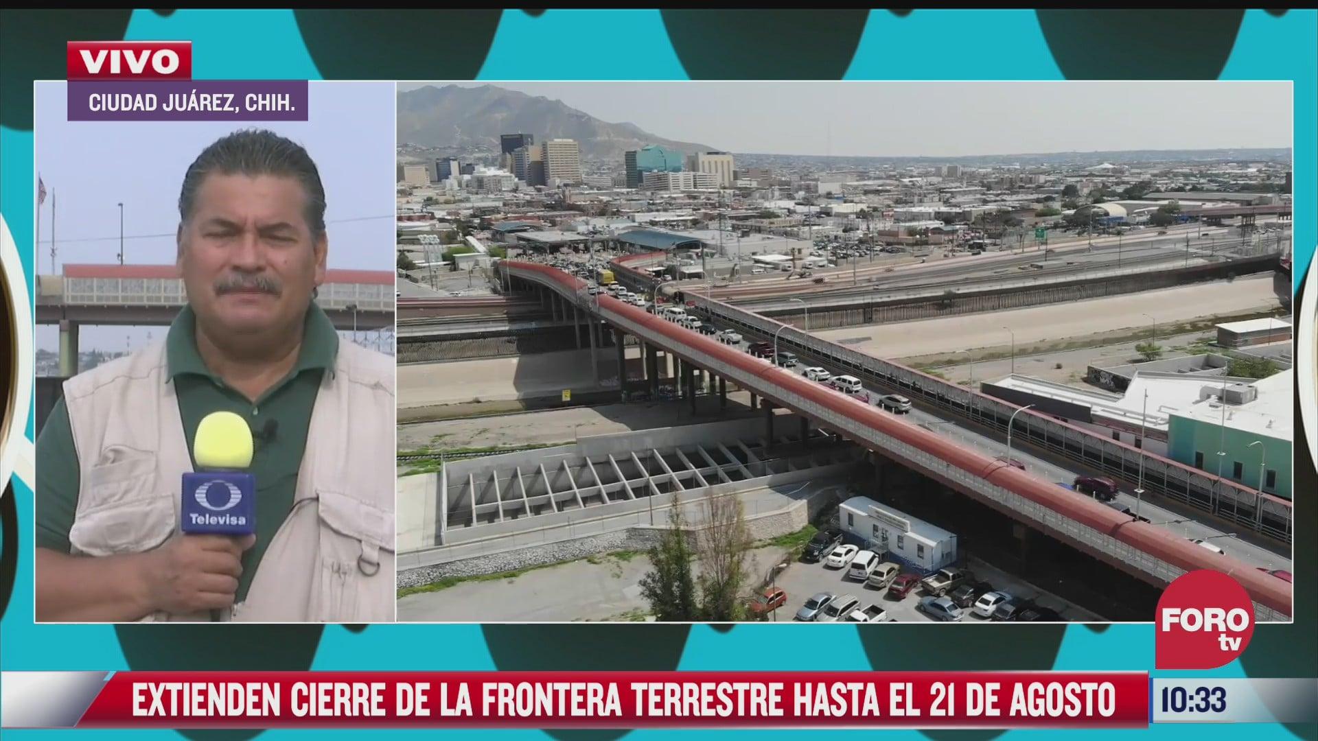 suman 16 meses de cierre de frontera mexico eeuu para viajes no esenciales