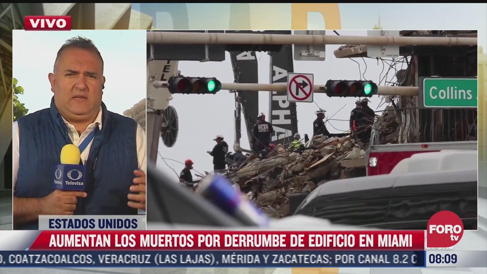 suman 22 muertos por derrumbe de edificio en miami