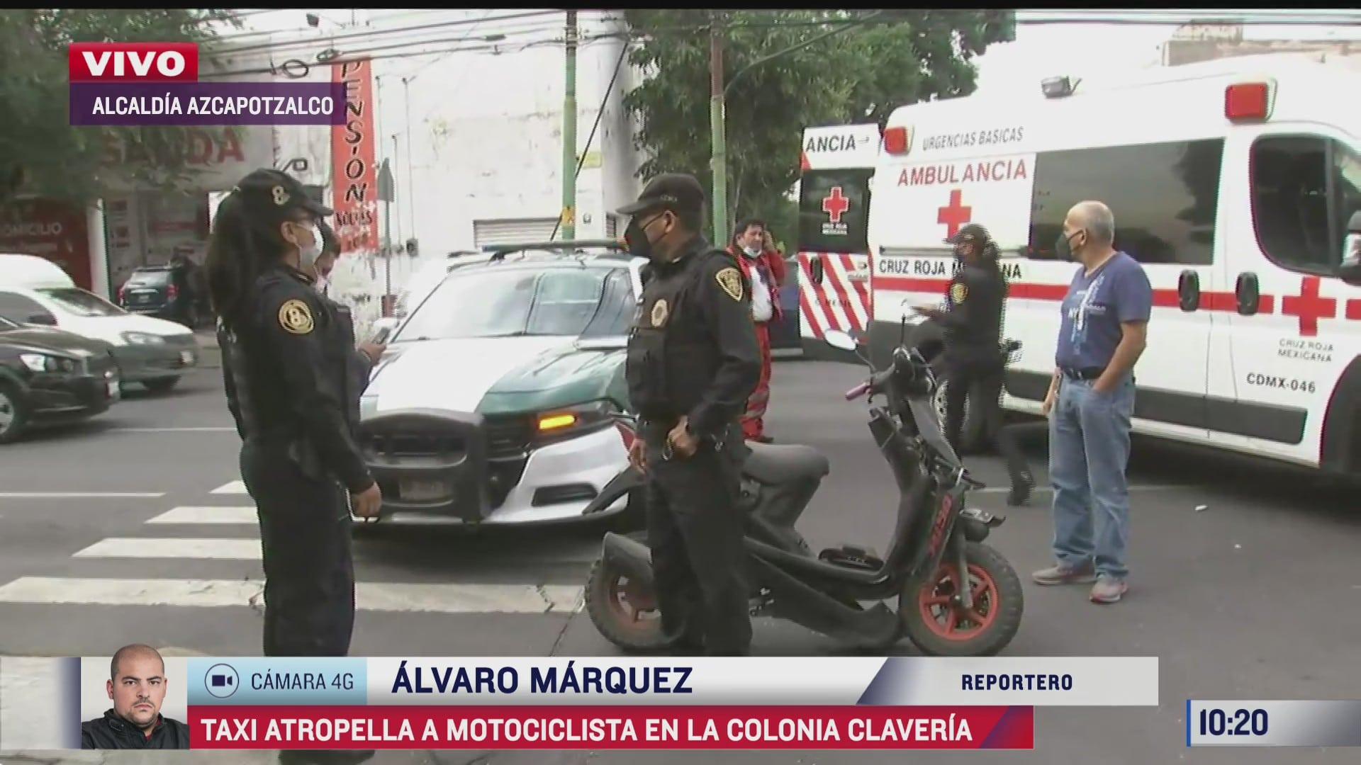 taxi atropella a dos motociclistas en azcapotzalco