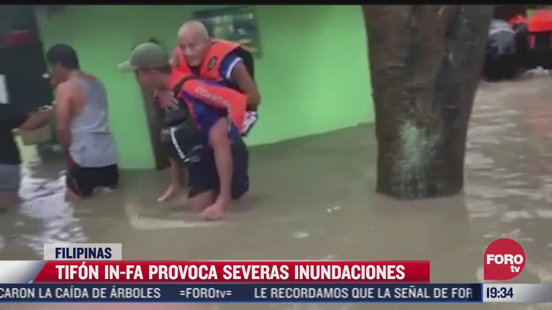 tifon in fa causa severas inundaciones en filipinas