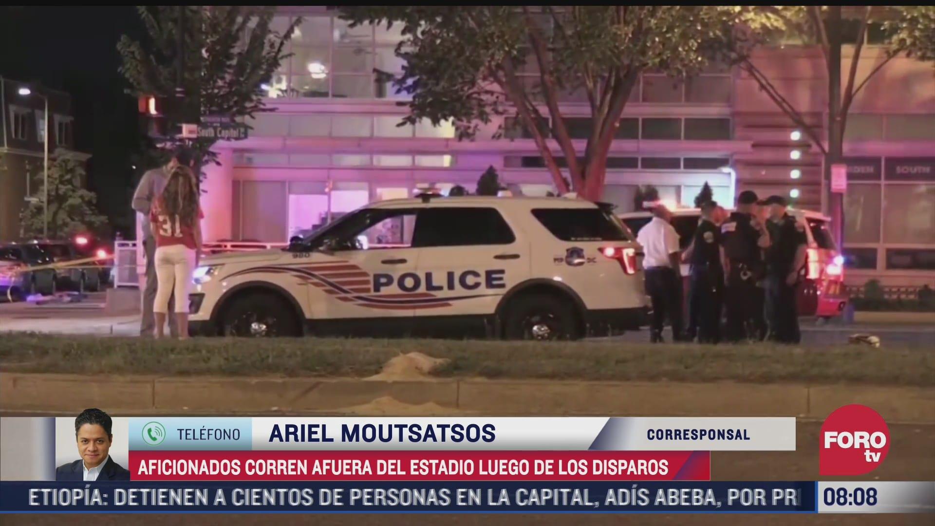 tiroteo afuera de estadio de beisbol en eeuu deja dos heridos