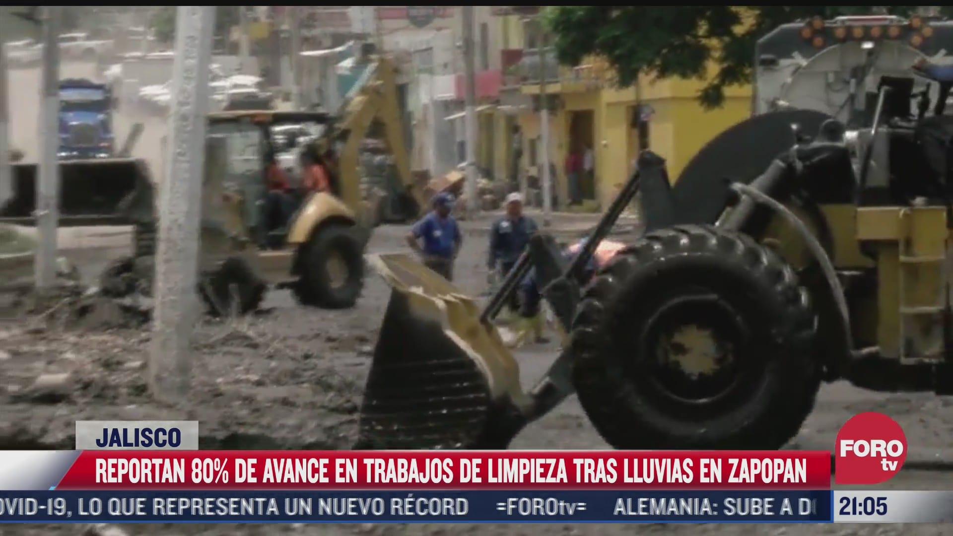 trabajos de limpieza tras danos por inundaciones en zapopan