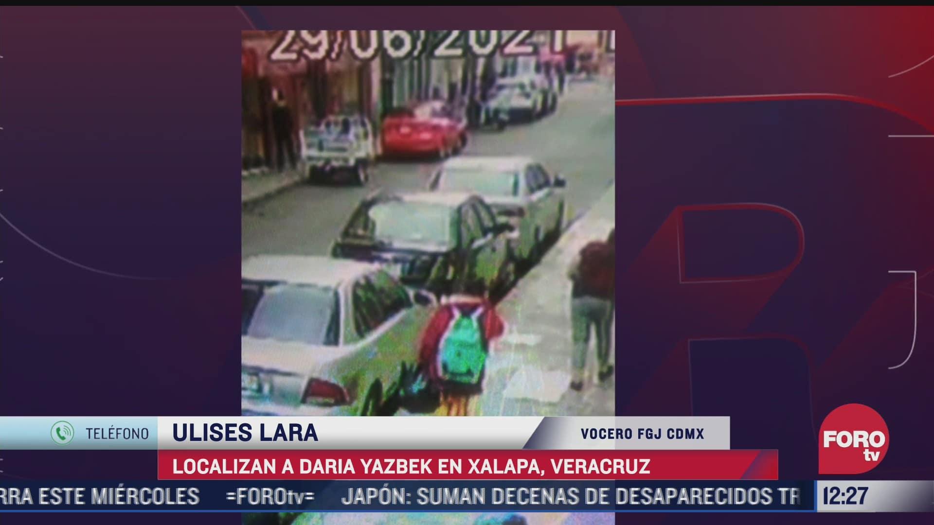 ulises lara vocero de la fgjcdmx habla de la localizacion de daria yazbek