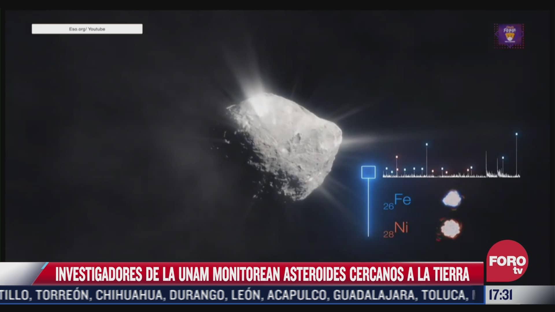 unam monitorea asteroides cercanos a la tierra