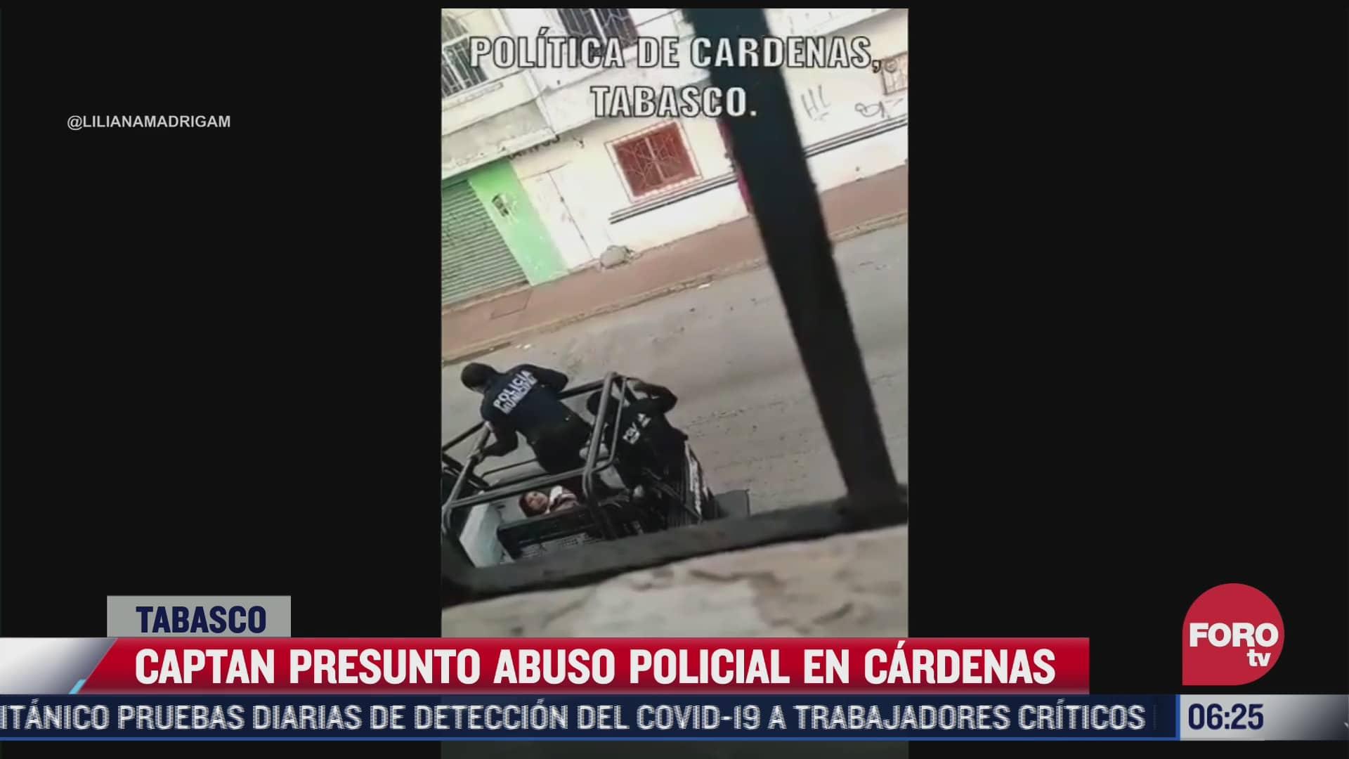 video denuncian presunto caso de abuso policial en tabasco