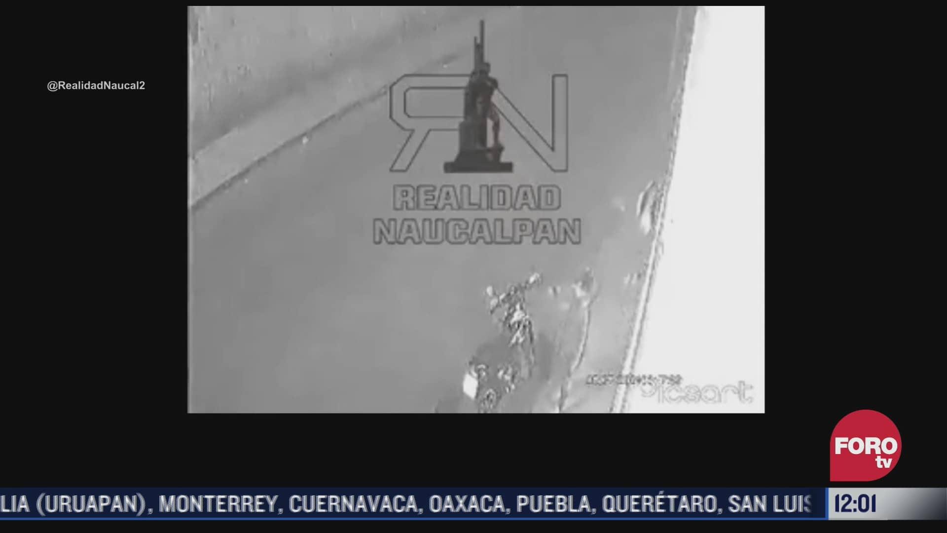 video hombre golpea a mujer en calles de naucalpan estado de mexico
