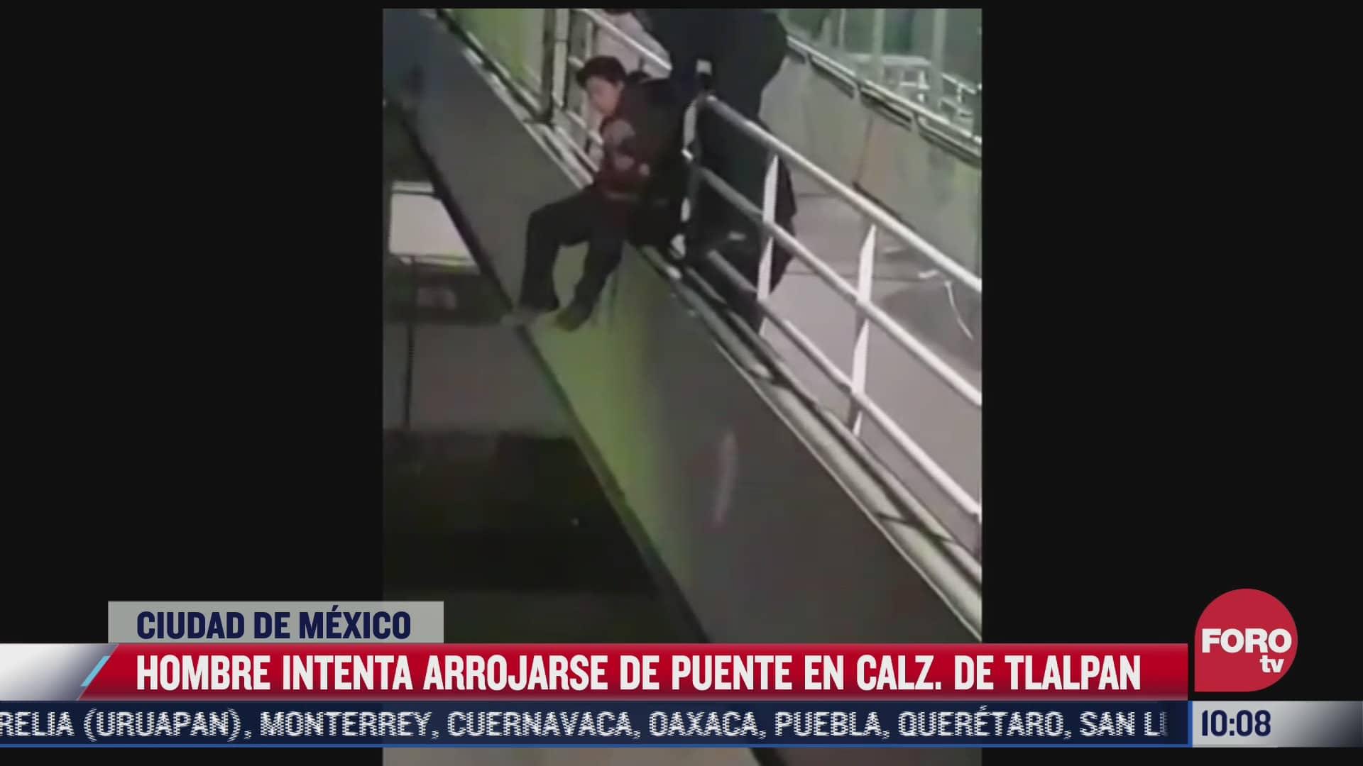 video policias salvan a hombre que intento suicidarse en tlalpan