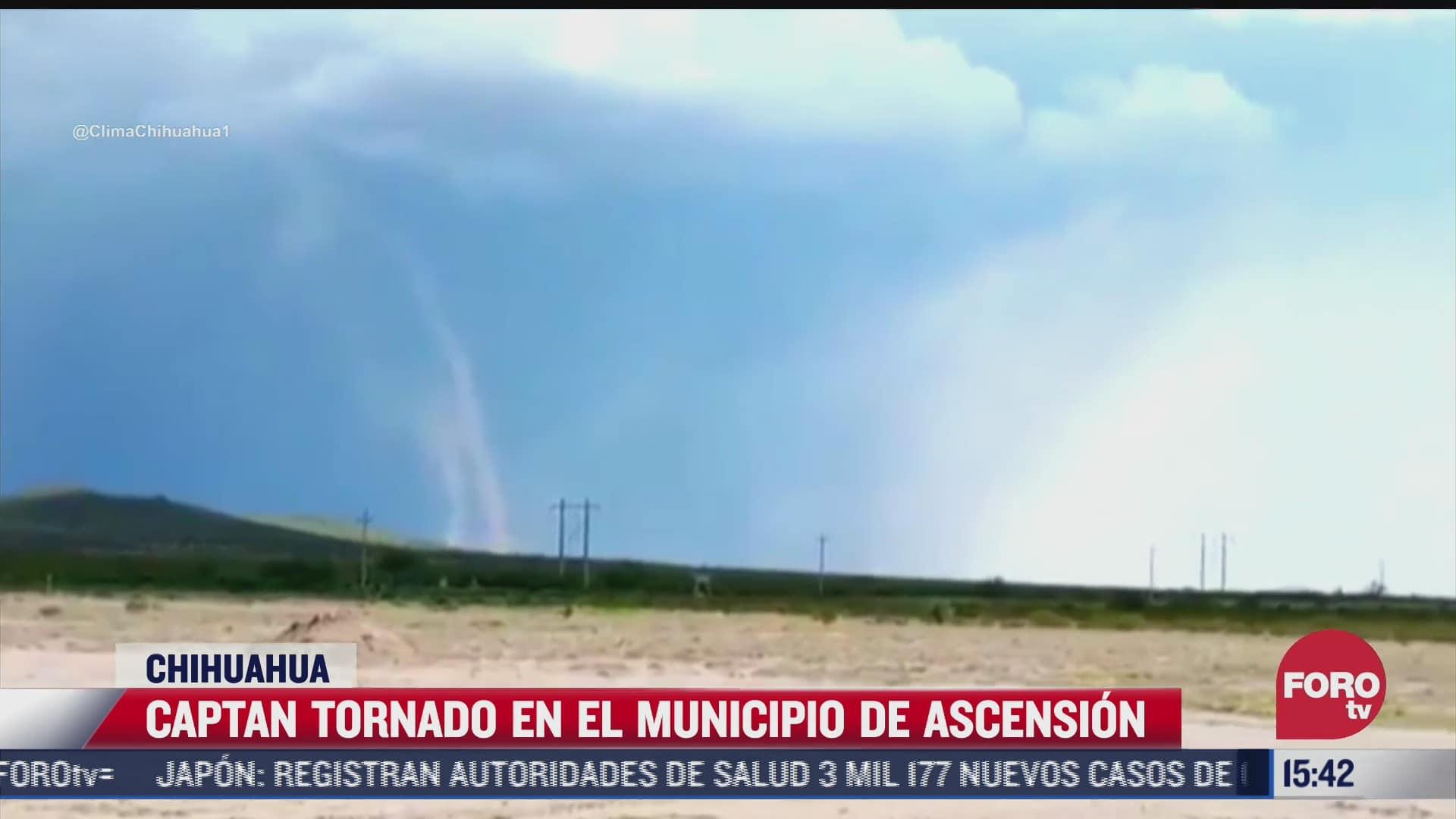 video se forma tornado en ascension chihuahua