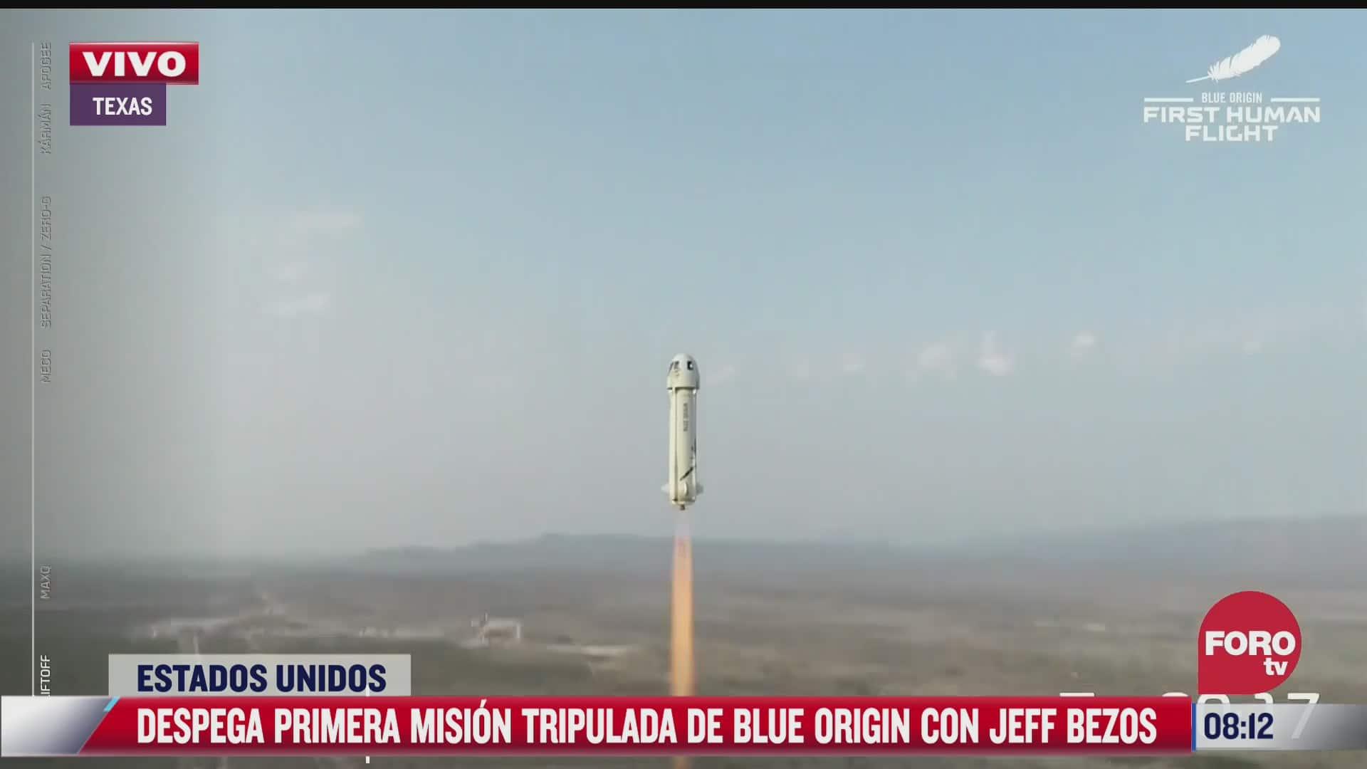 video viaje completo de jeff bezos al espacio