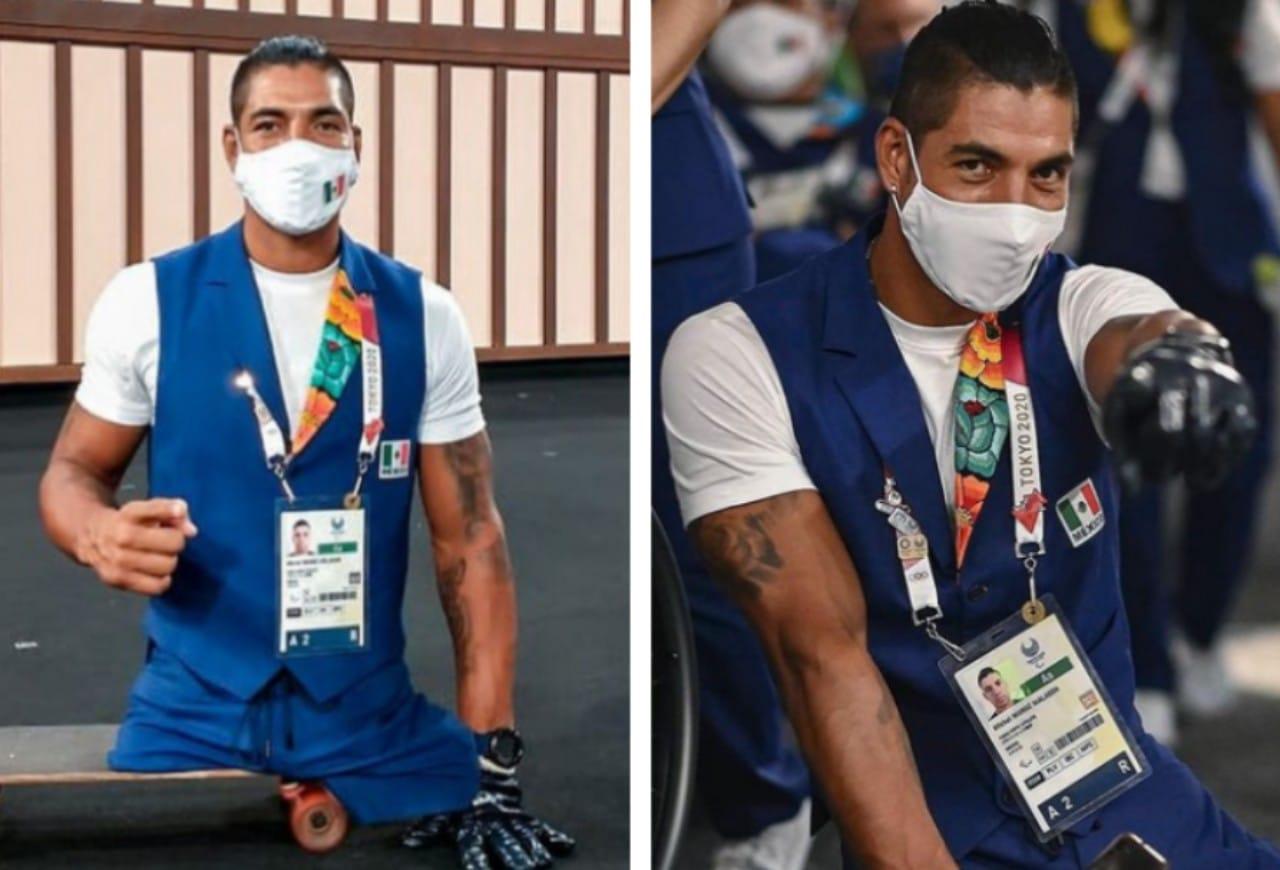 Michel Muñoz, el atleta paralímpico que fue a Tokyo patineta
