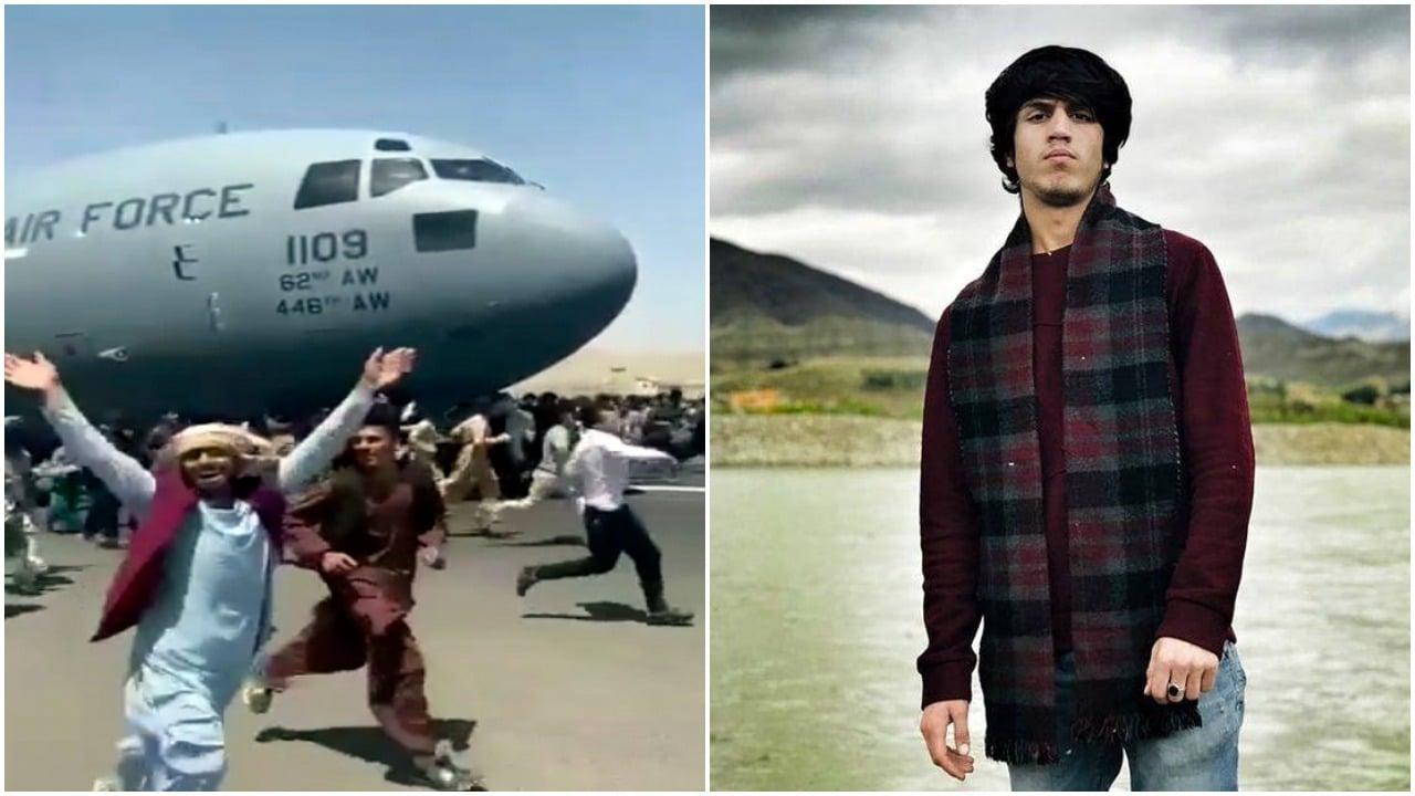 Kabul, Afganistán, polizón, avión militar