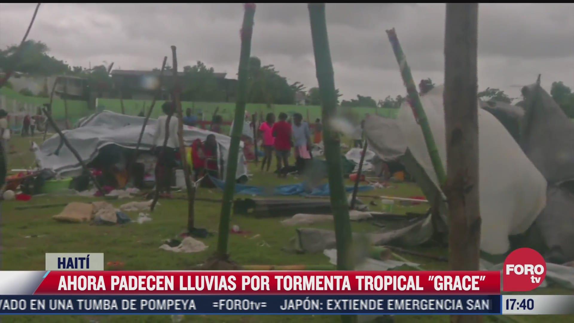 ahora padecen lluvias por tormenta tropical grace en haiti