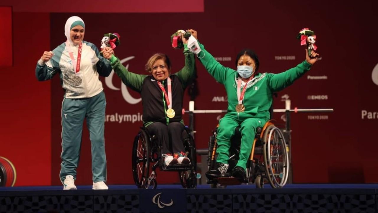 Amalia Pérez gana medalla de oro en halterofilia en Paralímpicos de Tokyo 2020