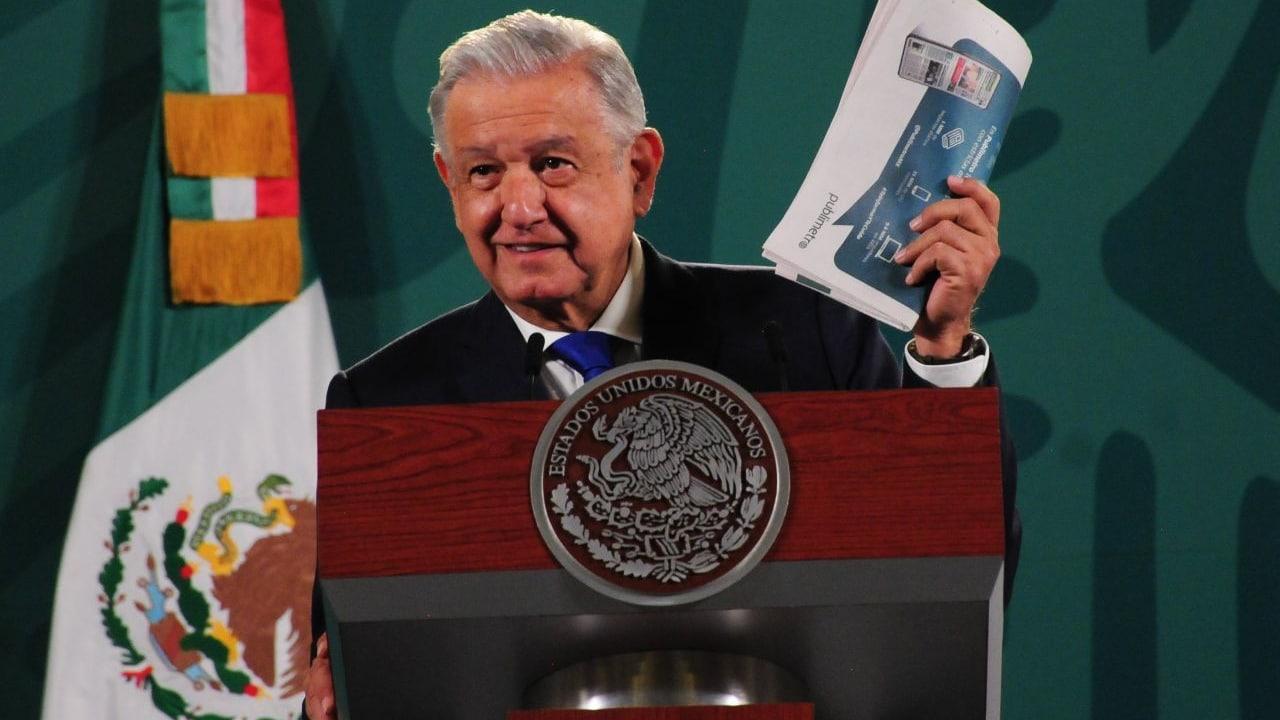 Andrés Manuel López Obrador, presidente de México, en conferencia de prensa matutina
