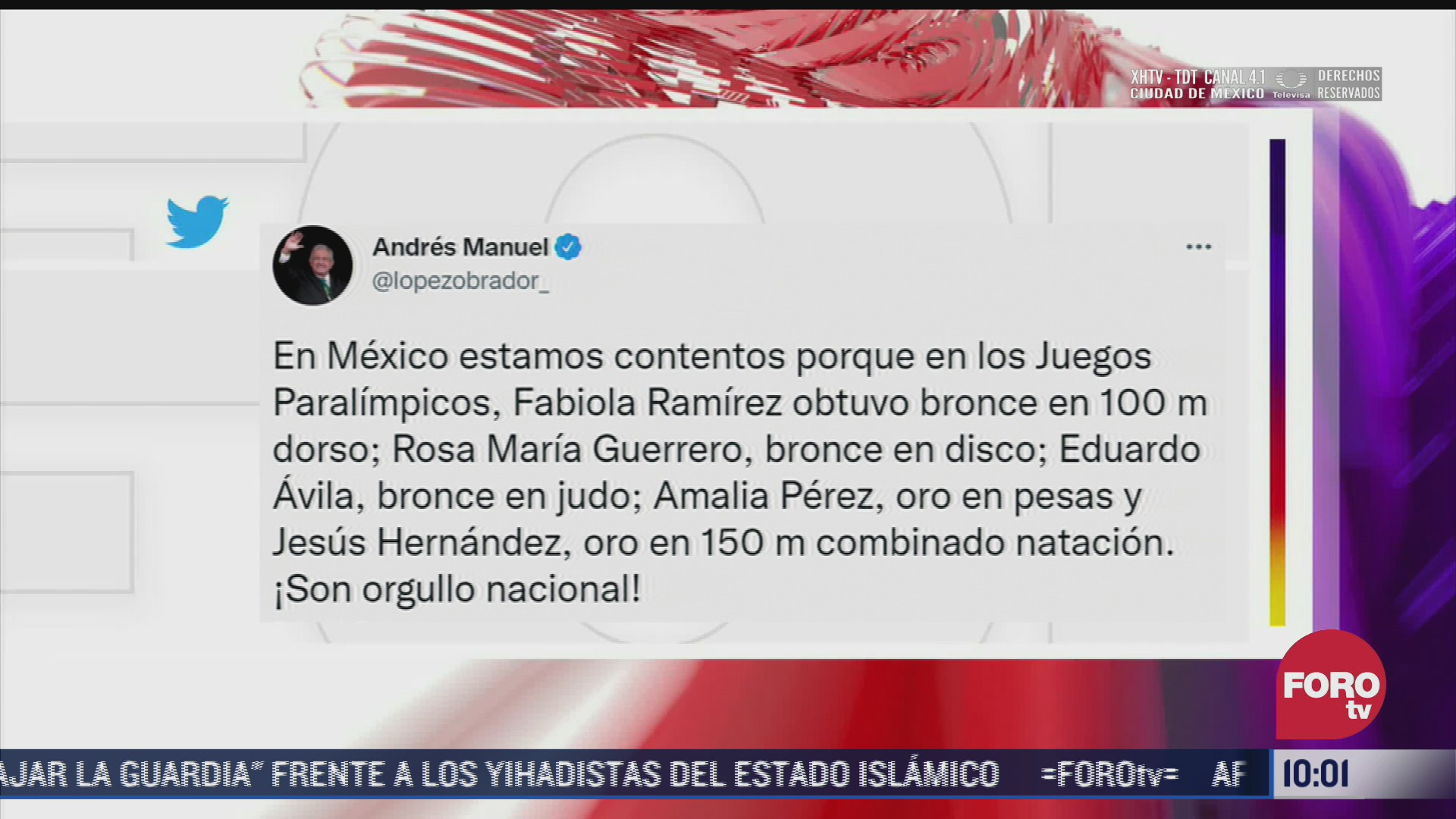 amlo felicita a medallistas mexicanos paralimpicos de tokyo