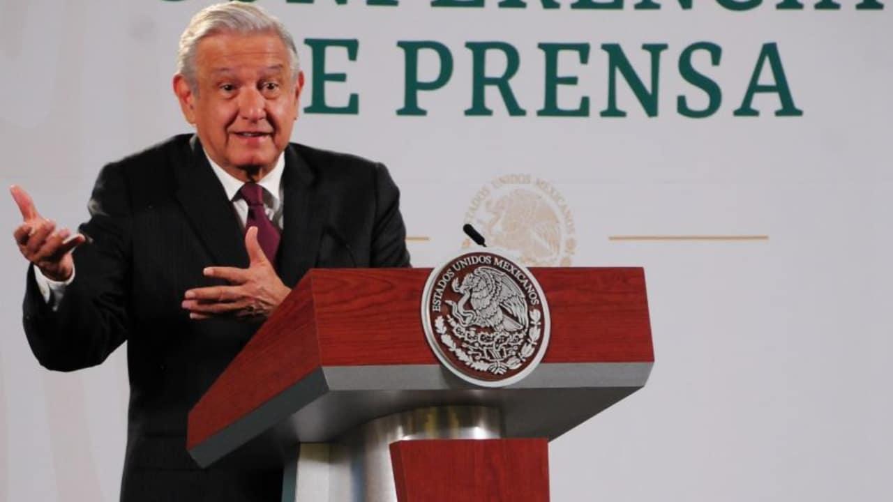 El presidente Andrés Manuel López Obrador en la conferencia de prensa matutina. (Foto: Cuartoscuro)