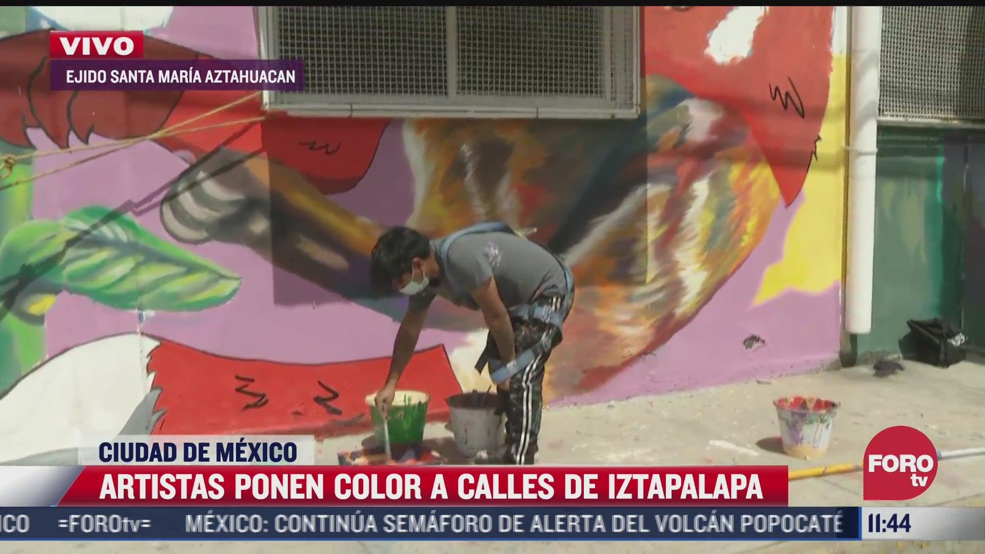 artistas ponen color a calles de iztapalapa cdmx