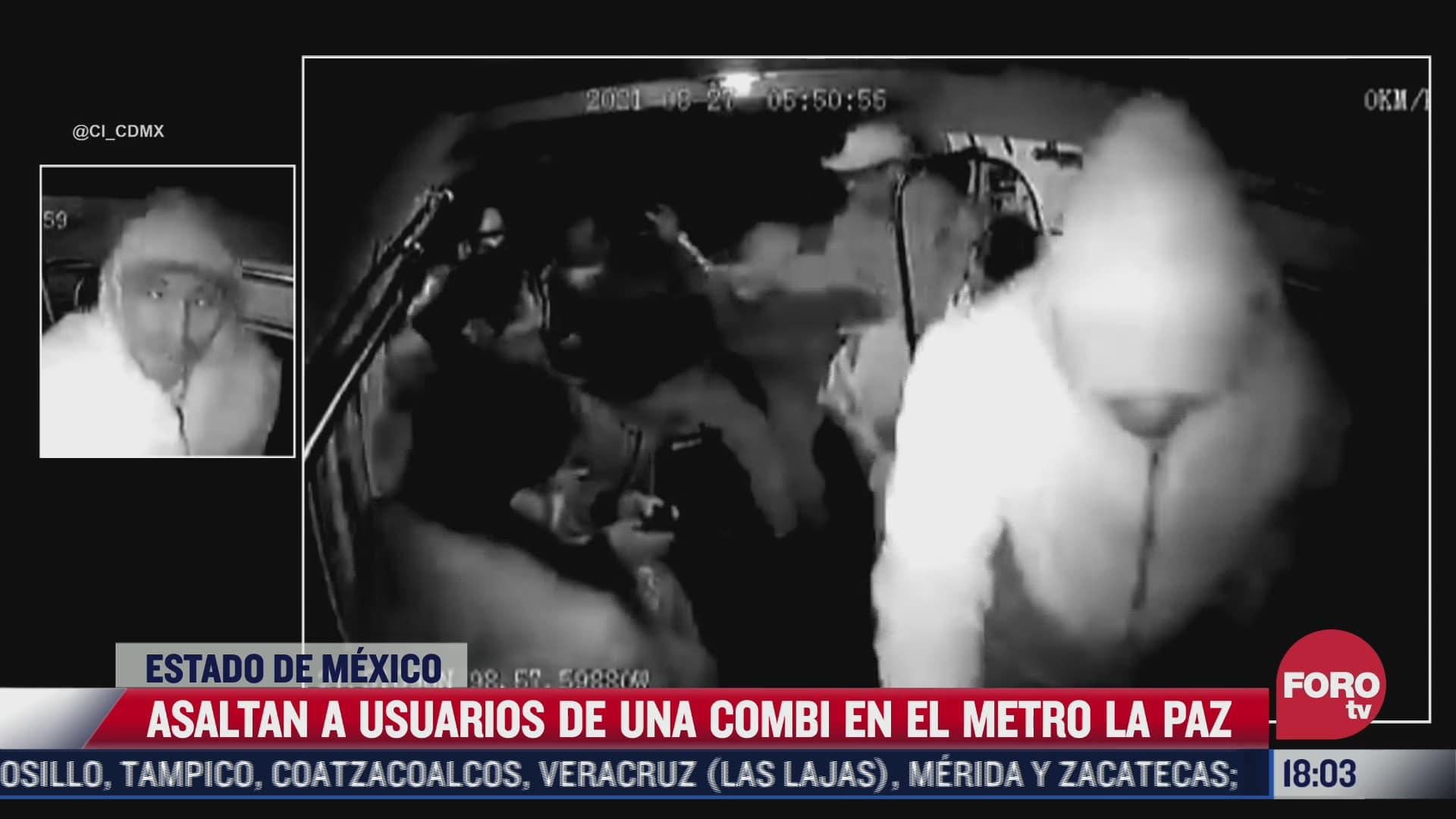 asaltan a usuarios de una combi en el metro la paz