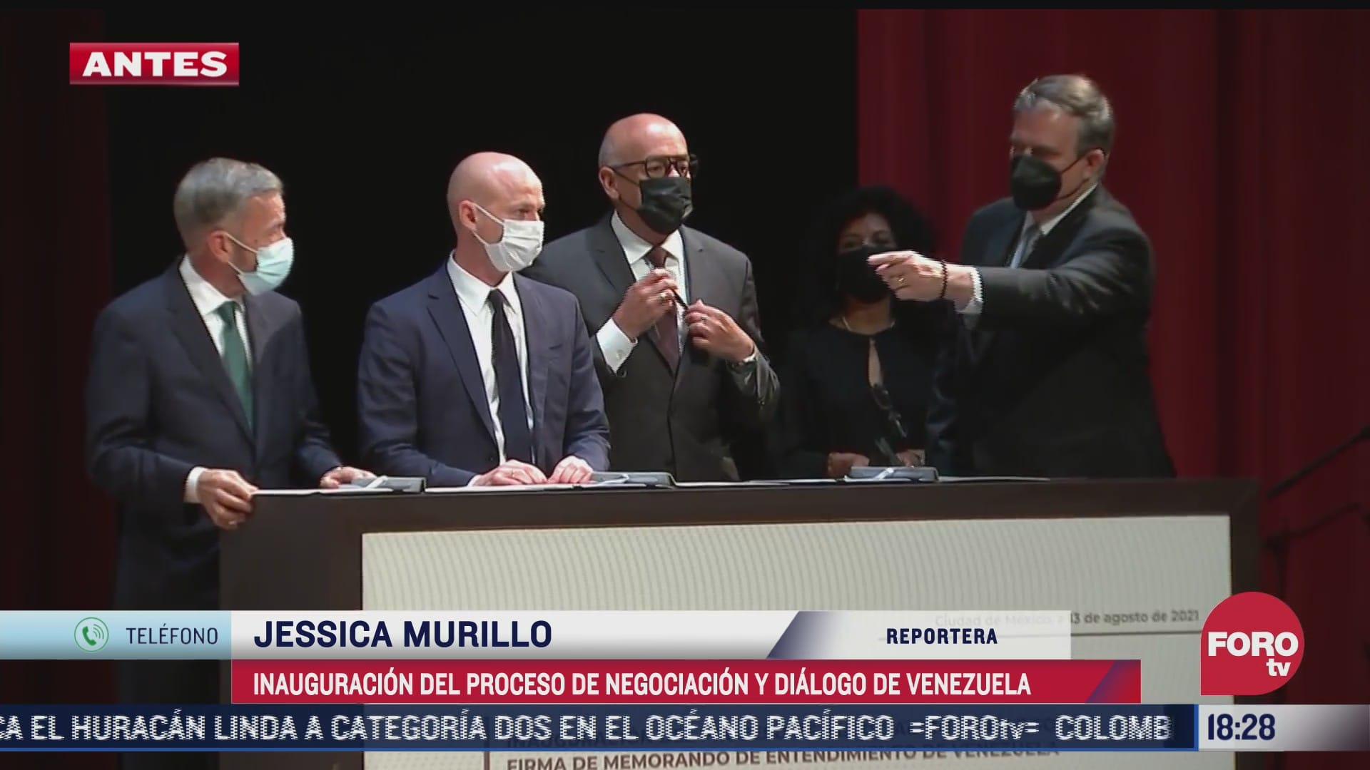 asi fue la firma del memorando de entendimiento entre gobierno de venezuela y opositores
