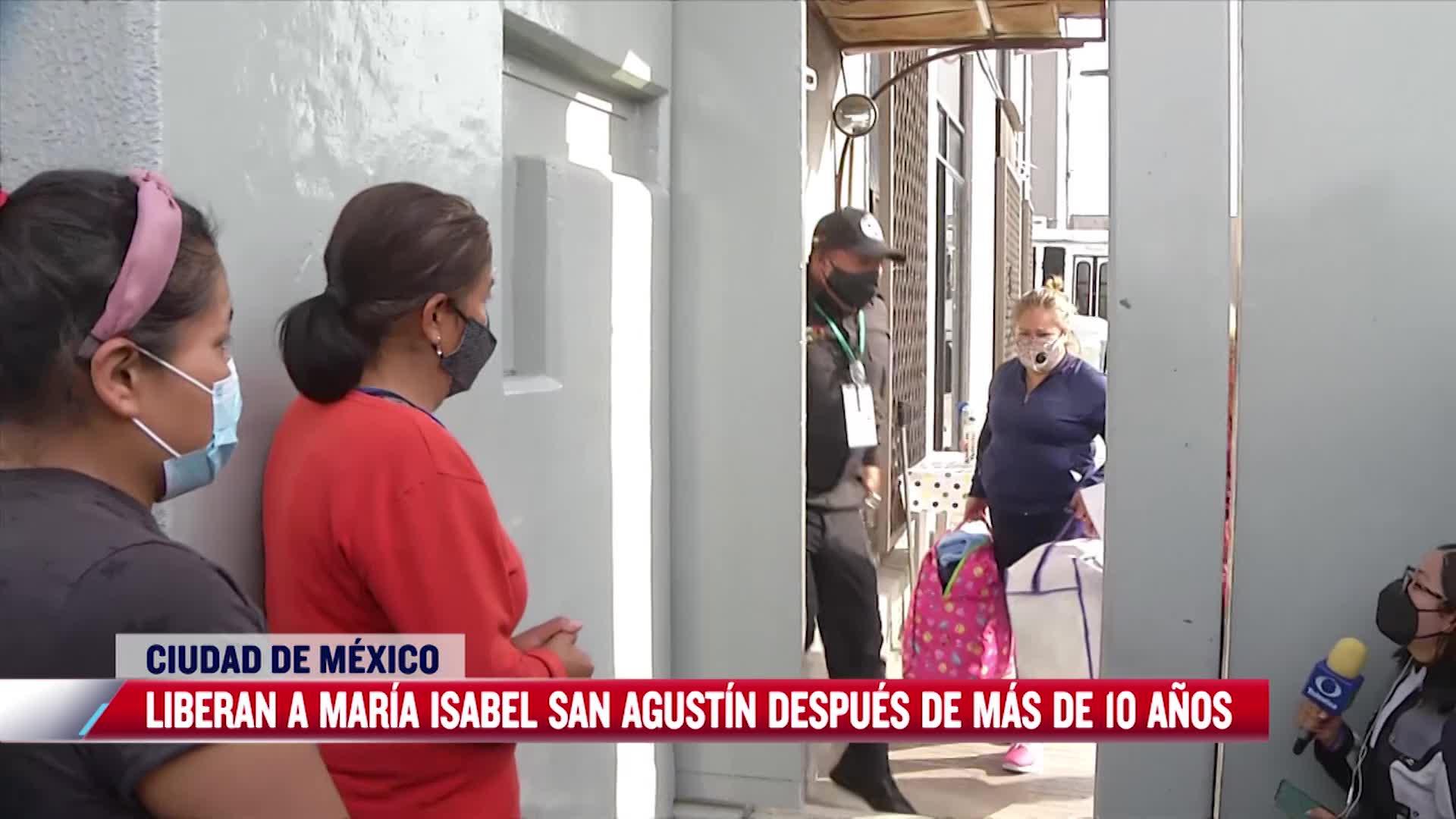 Así liberaron a María Isabel San Agustín, tras once años en la cárcel