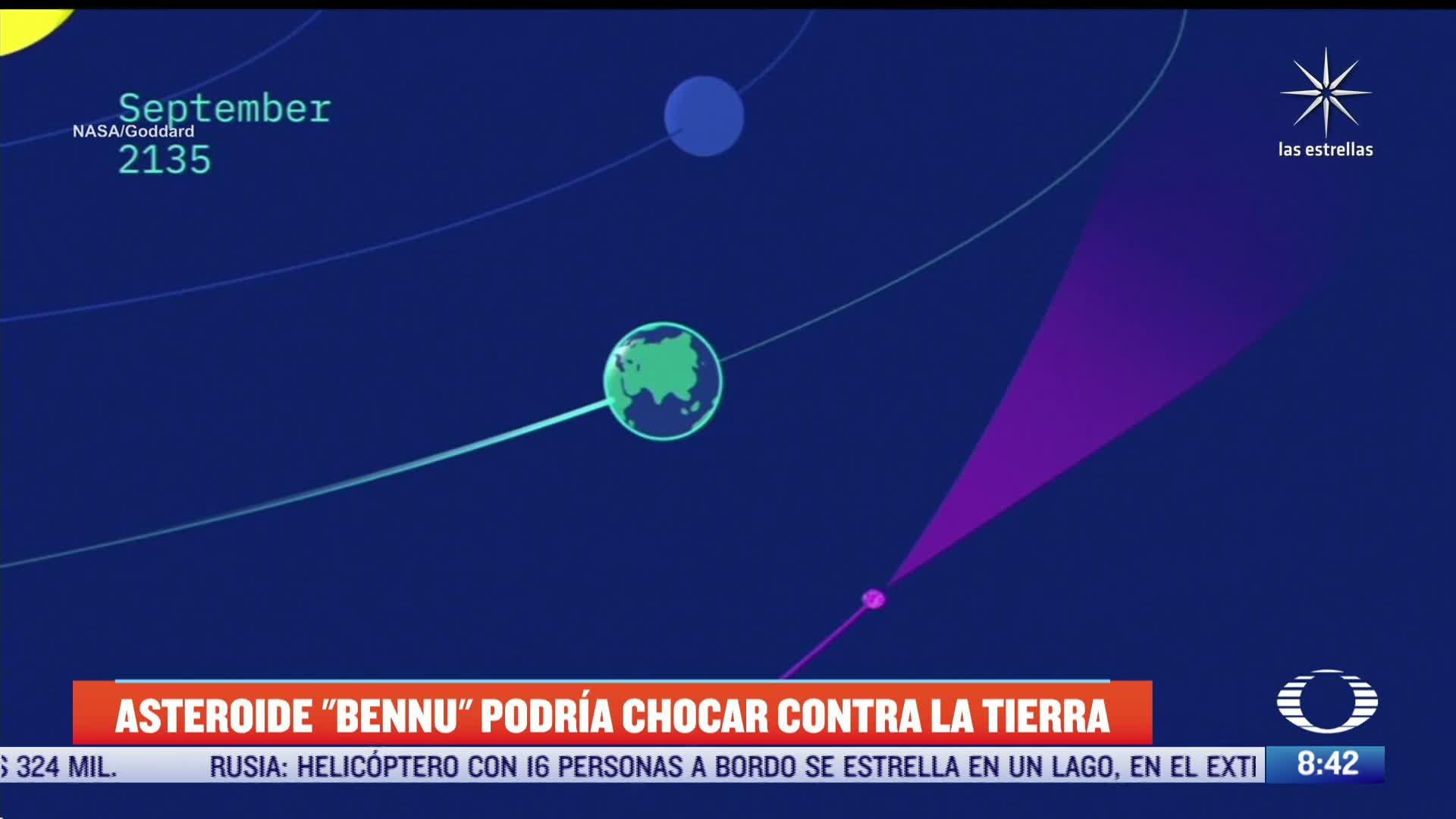 Científicos de la NASA advirtieron que han aumentado las probabilidades de que el asteroide 'Bennu' choque contra la Tierra, a partir del 2135