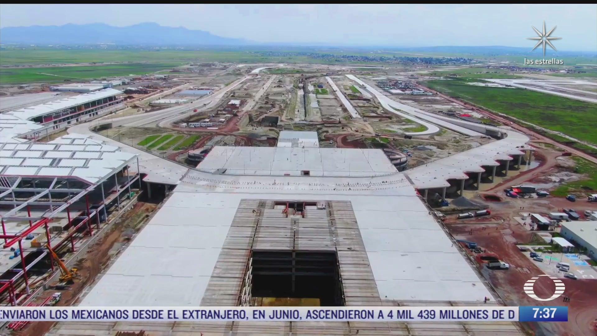 avanza construccion del aeropuerto felipe angeles