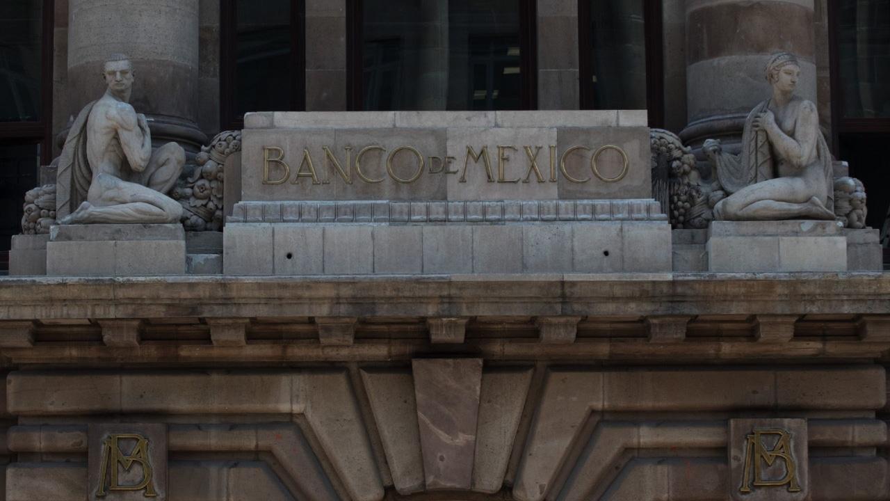 Fachada del edificio del Banco de México (Banxico), ubicado en la Ciudad de México