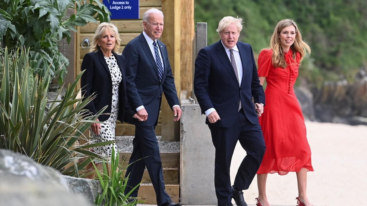 El presidente de Estados Unidos, Joe Biden, y el primer ministro británico, Boris Johnson (Archivo, Getty Images)