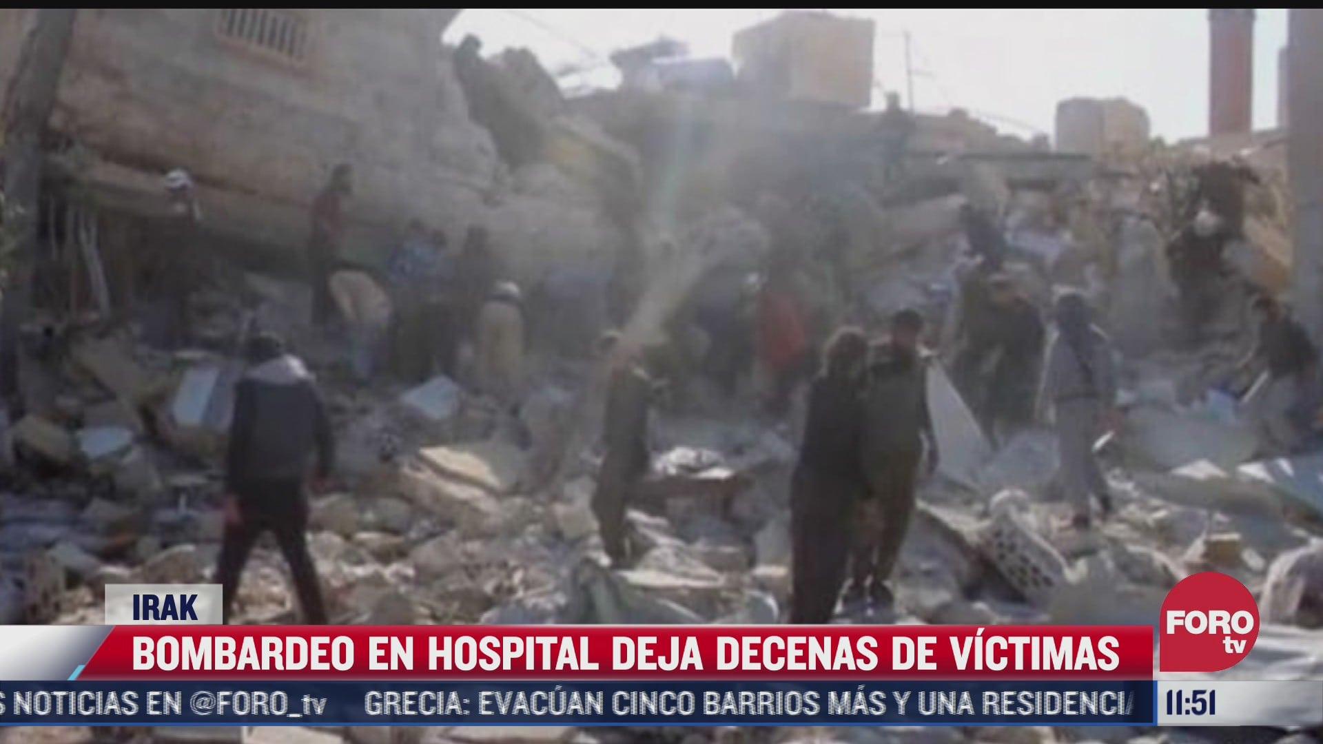 bombardeo en hospital deja decenas de victimas en irak