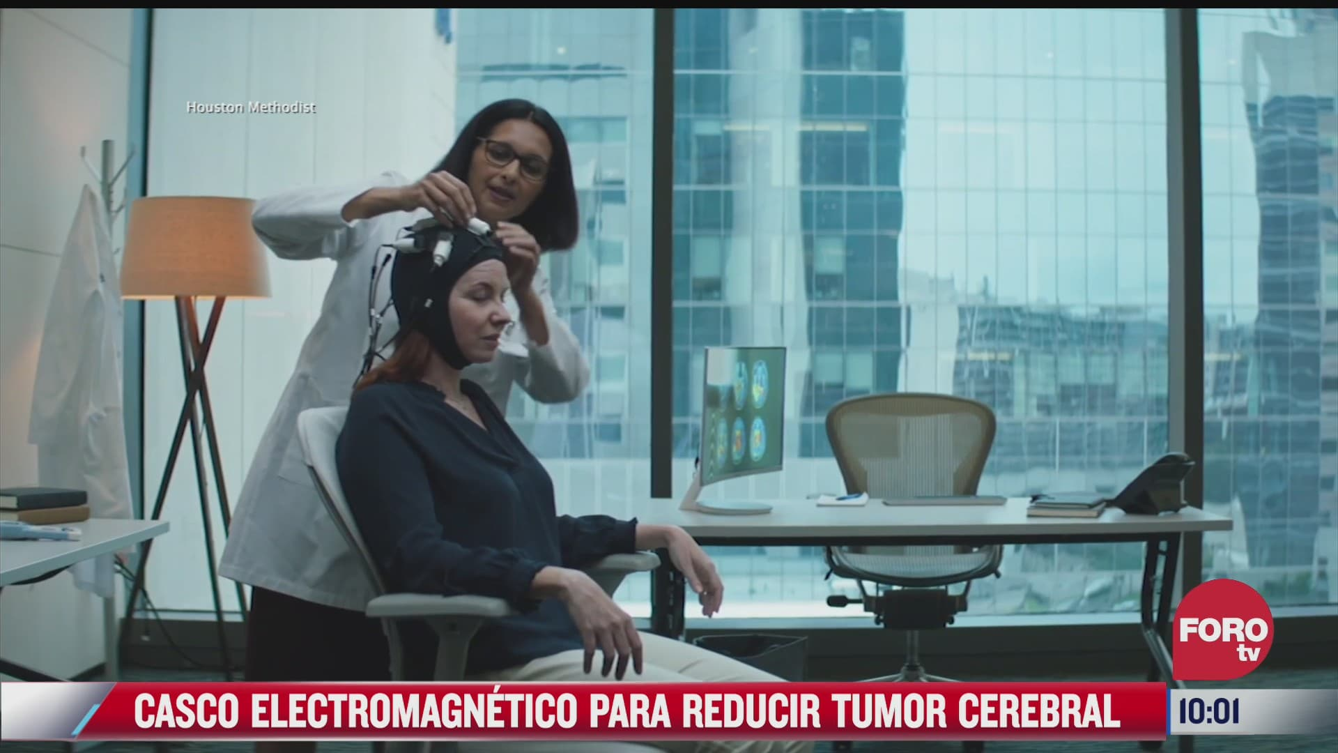 casco electromagnetico para reducir tumor cerebral