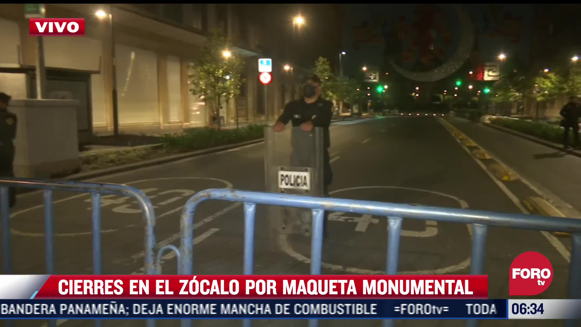 Cierran circuito de la Plaza de la Constitución, CDMX, por maqueta monumental
