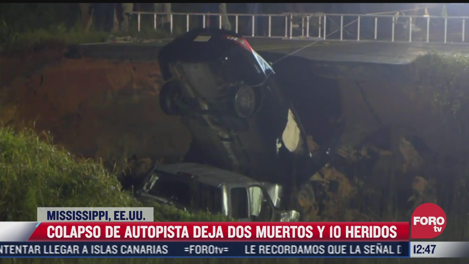 colapso de autopista deja muertos y heridos en mississippi eeuu