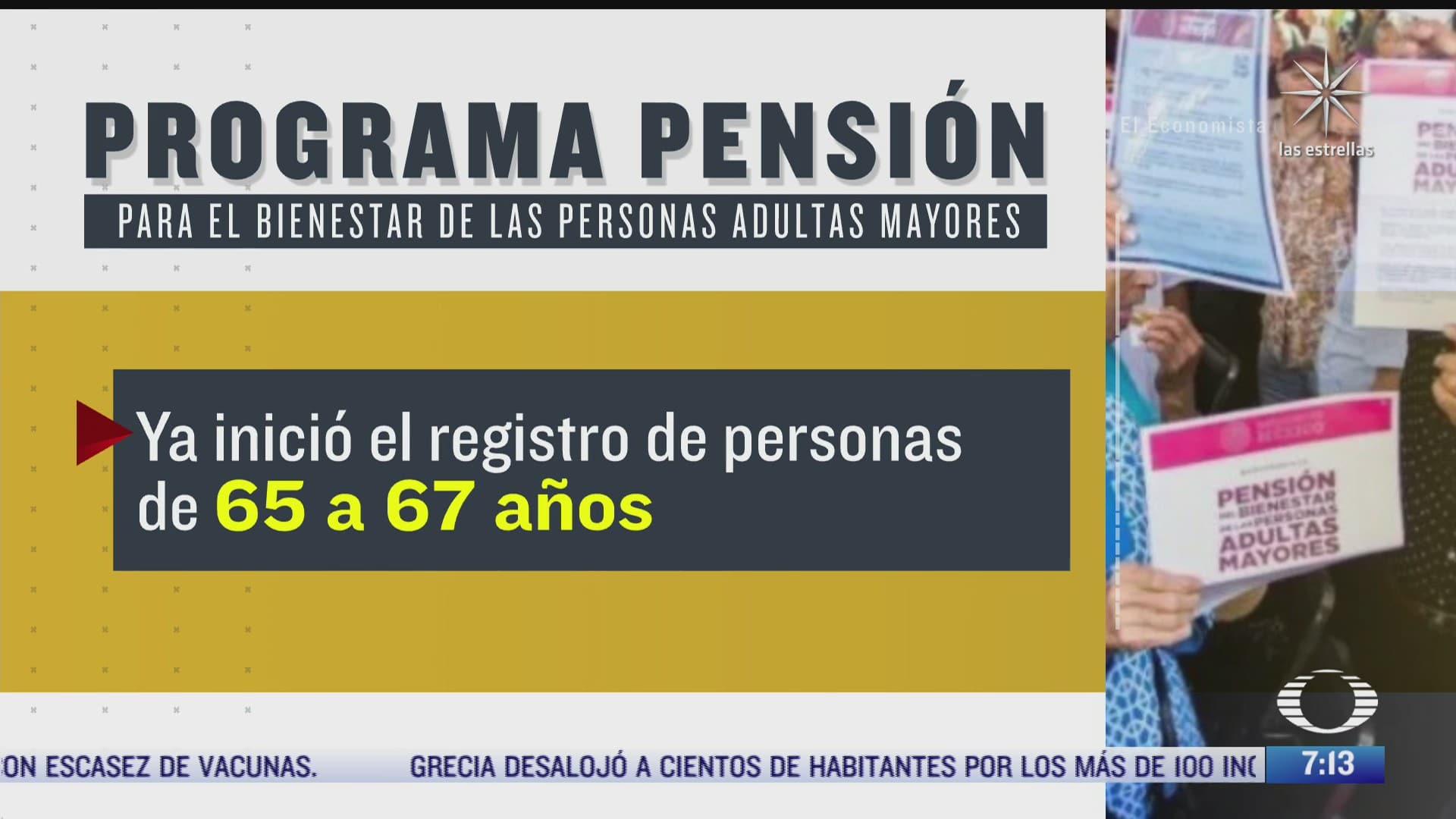 como inscribir a adultos mayores de 65 anos en la pension bienestar