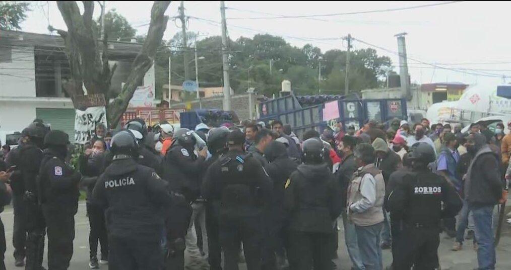 comuneros cierran carretera méxico cuernavaca