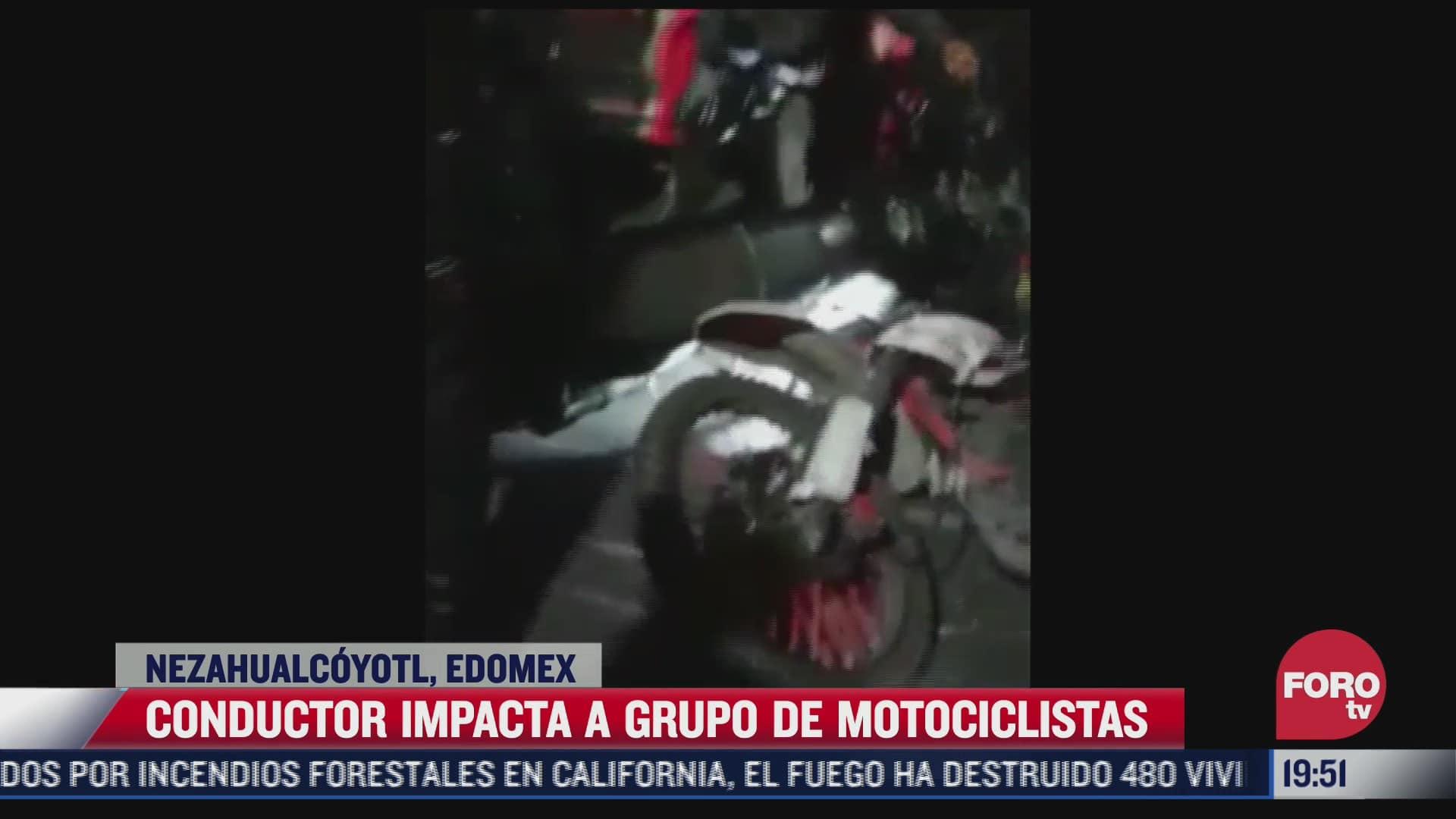 conductor impacta a motociclistas en neza