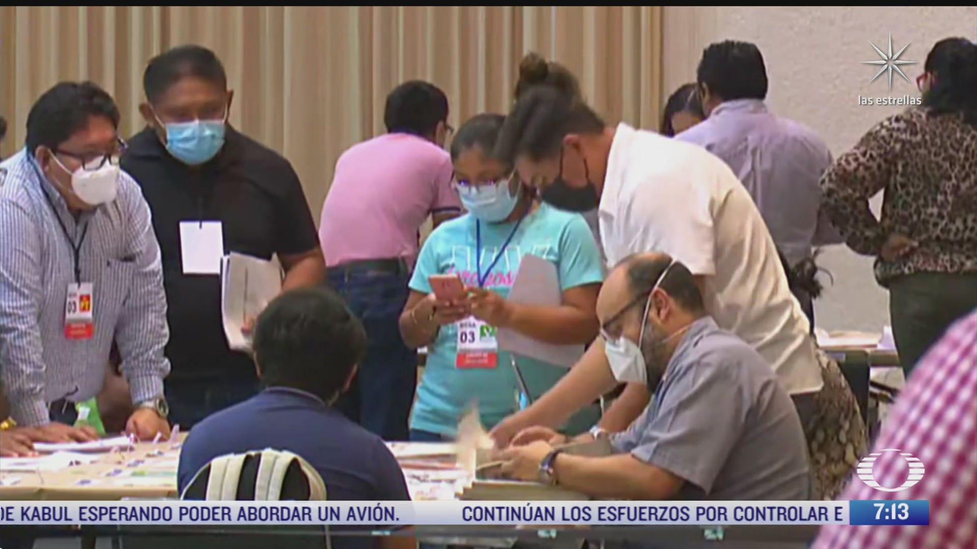 continua el conteo de votos en campeche