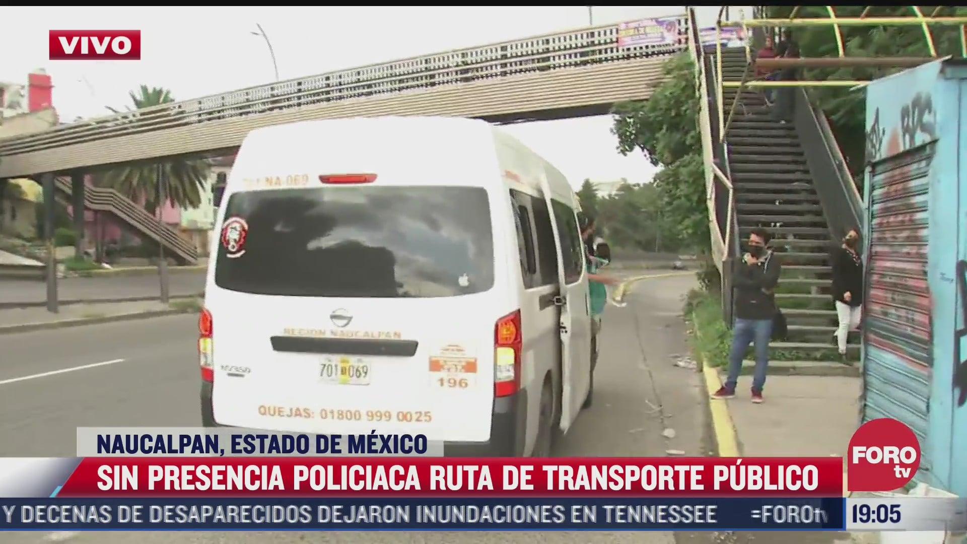 continua la ausencia policiaca pese a asaltos al transporte publico en naucalpan