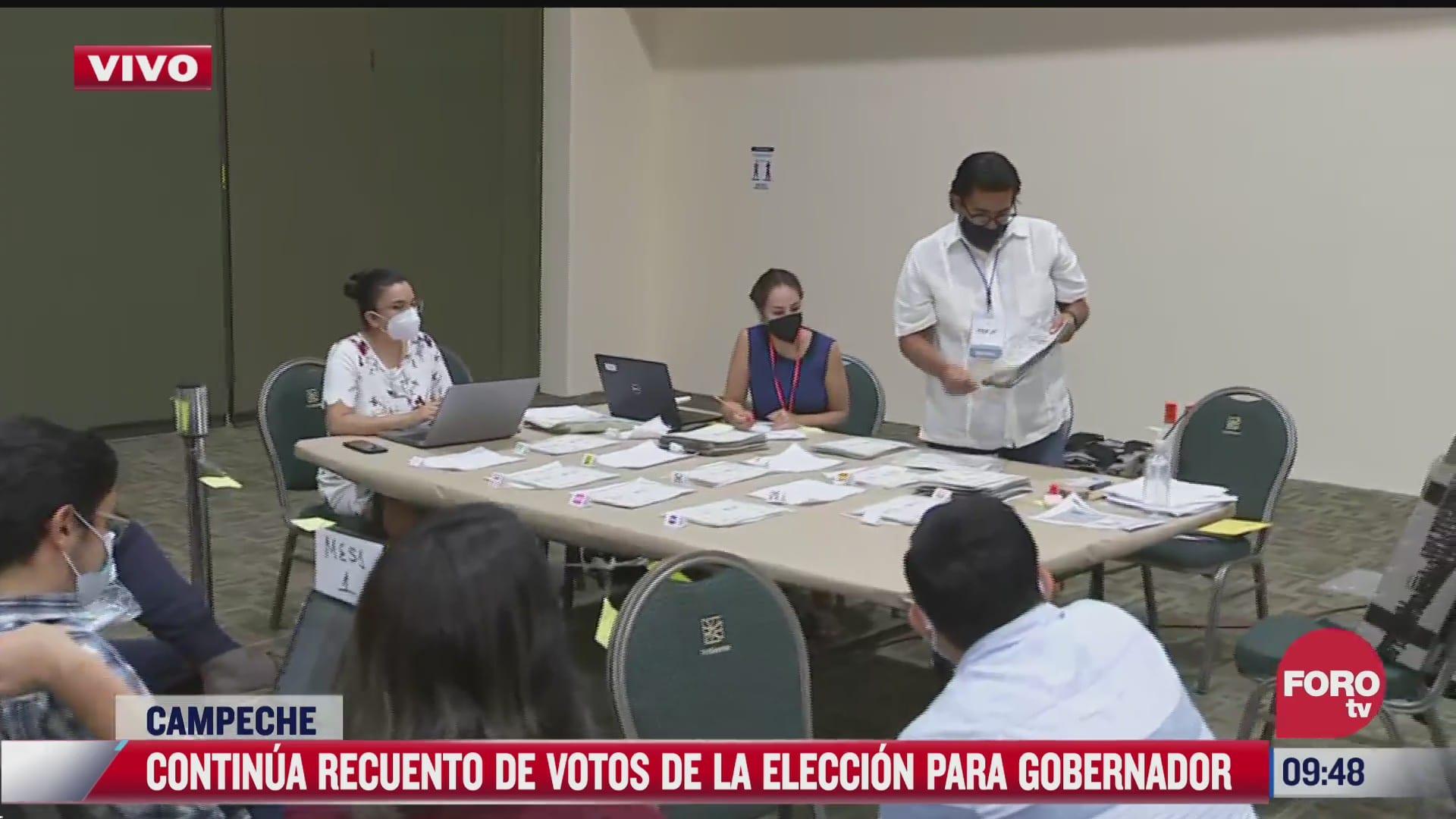 continua recuento de votos de la eleccion para gobernador en campeche