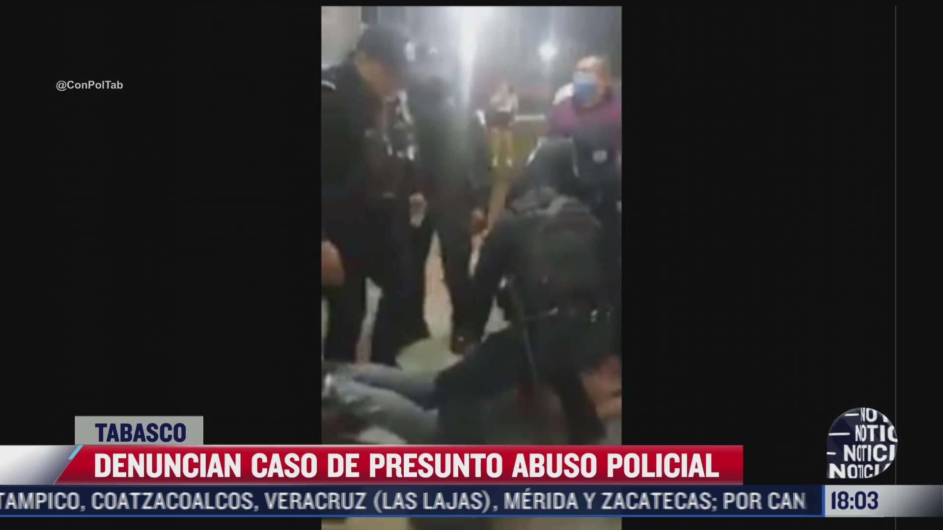 denuncian caso de presunto abuso policial en tabasco