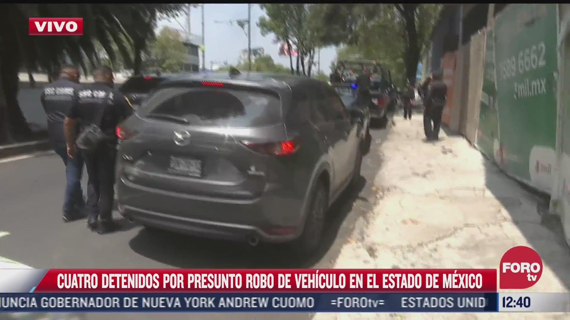 detienen a cuatro por robo de camioneta en el estado de mexico