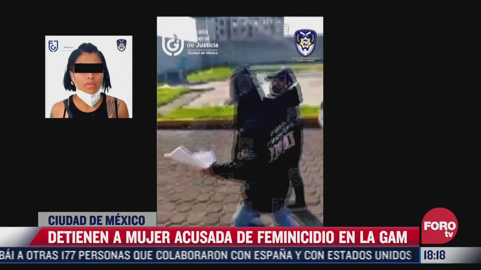 detienen a mujer acusada de feminicidio en la gam