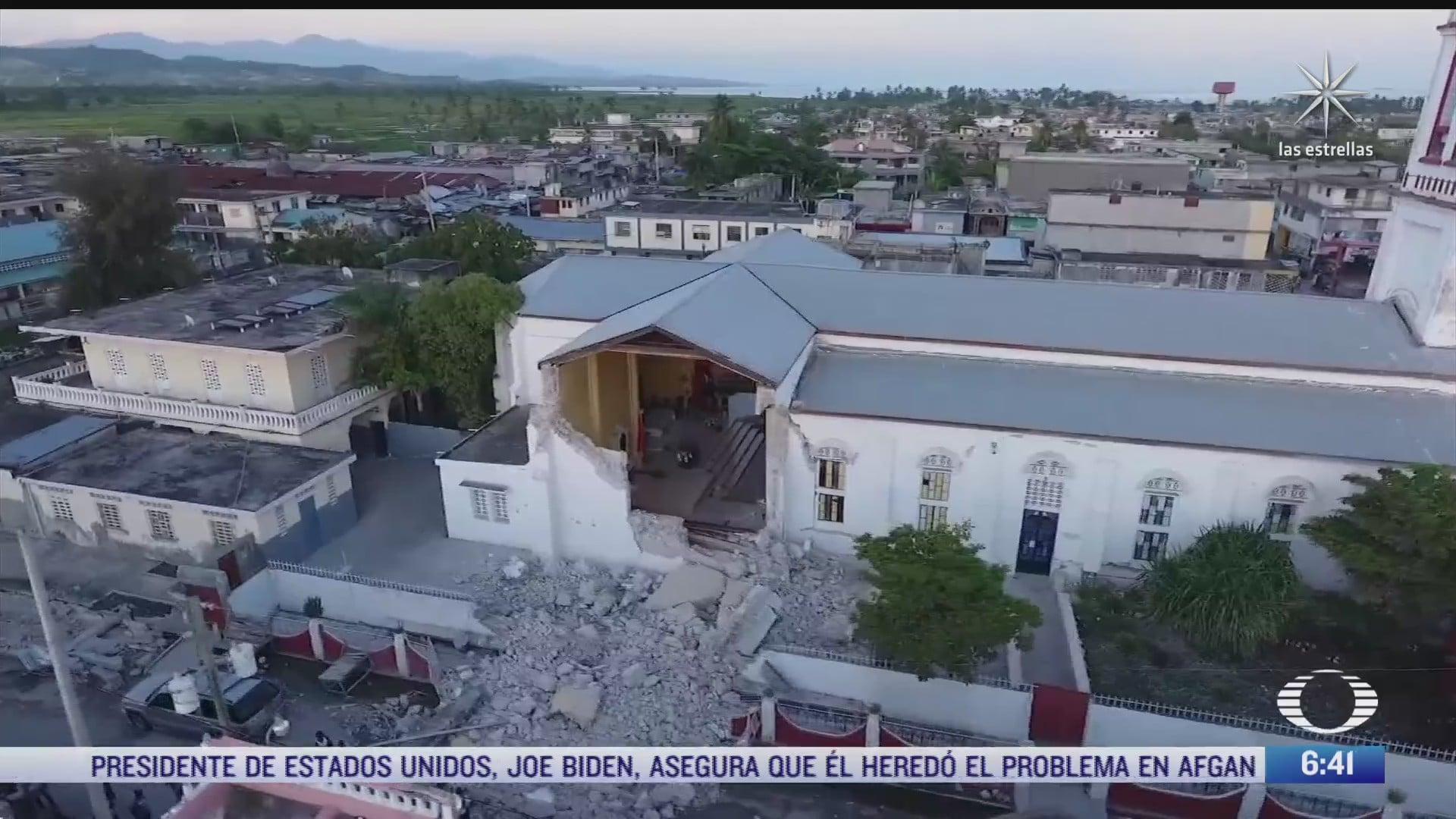 devastacion en haiti por terremoto de magnitud