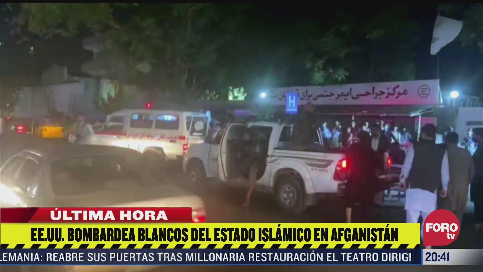 eeuu bombardea blancos del estado islamico en afganistan