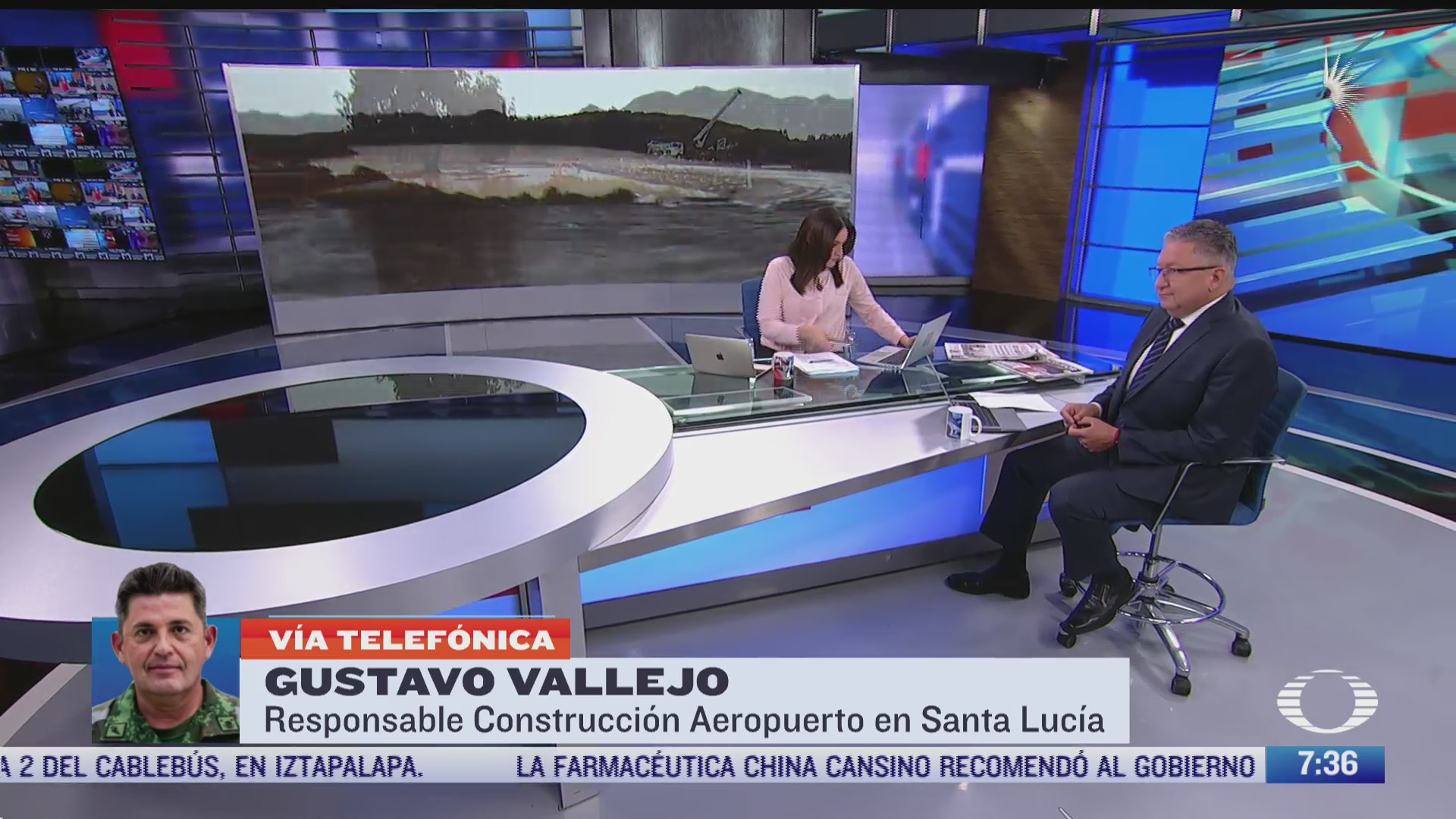 entrevista con gustavo vallejo responsable de la construccion del aeropuerto en santa lucia para despierta